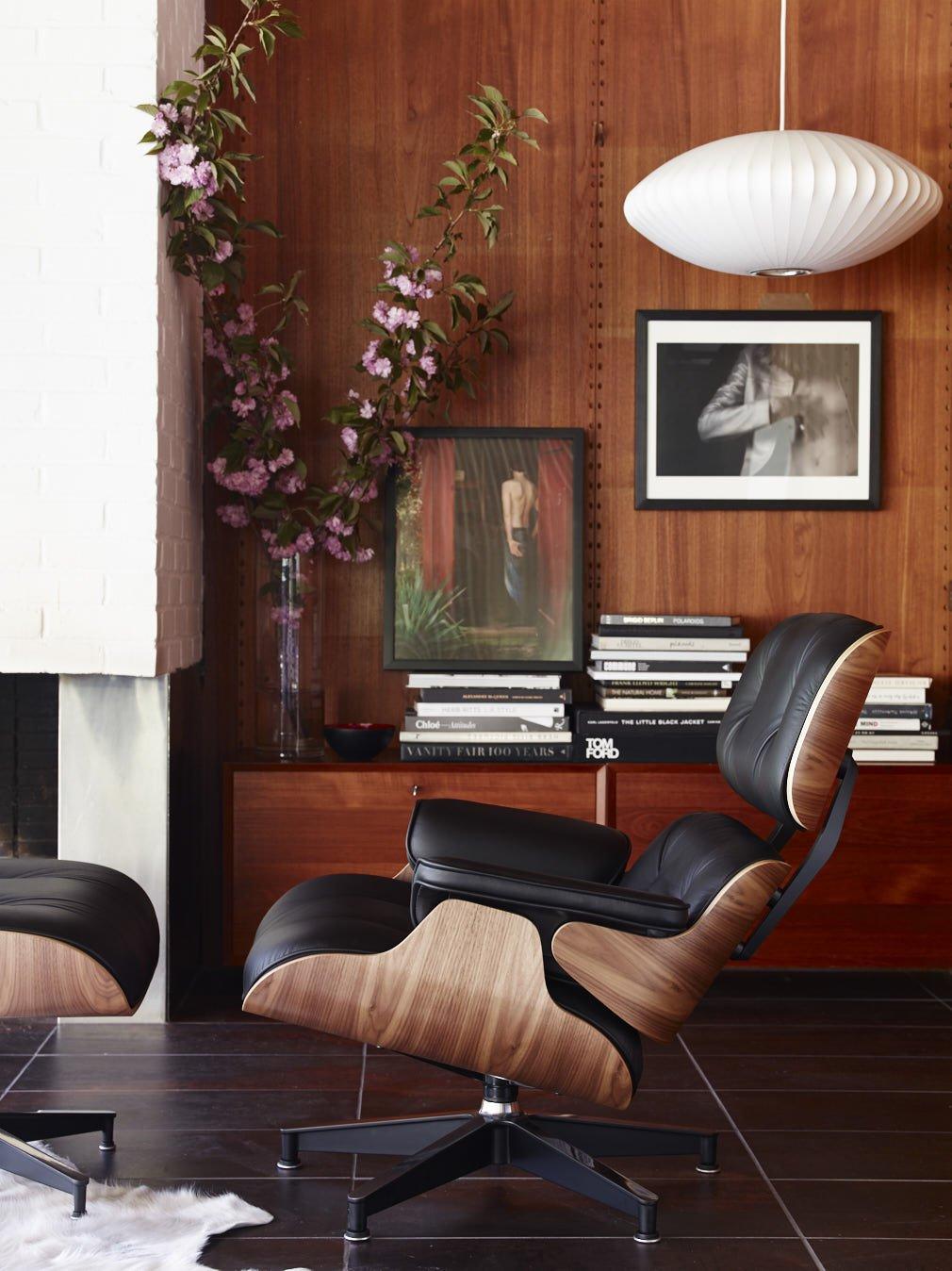 Кресло Eames Lounge Chair. Дизайн Чарльза и Рэй Имз для Herman Miller