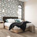 Кровать Магна 140х200 с серым изголовьем и подъемным механизмом