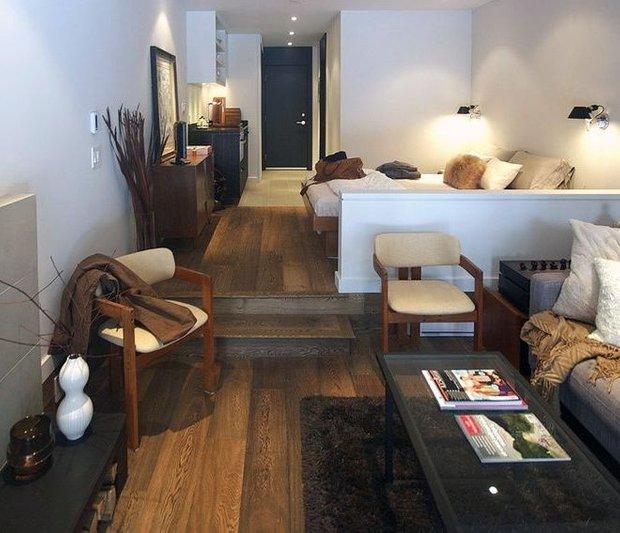 Фотография: Гостиная в стиле Лофт, Современный, Эклектика, Спальня, Интерьер комнат – фото на INMYROOM