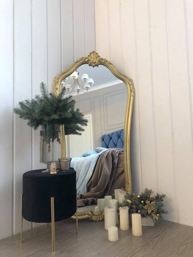 Зеркало в раме: купила на «Авито» раму, перекрасила и вставила зеркало — идеально.