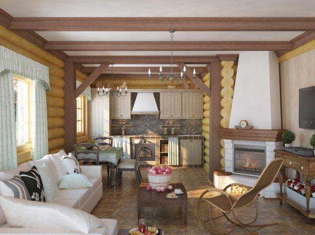 Фотография: Гостиная в стиле , Дом, Дома и квартиры, Дача – фото на INMYROOM