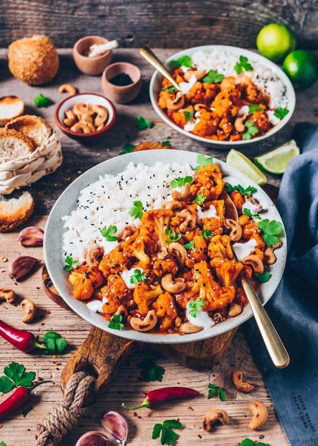 Фотография:  в стиле , Обед, Ужин, Основное блюдо, Жарить, Индийская кухня, Кулинарные рецепты, 45 минут, Просто, Цветная капуста – фото на INMYROOM