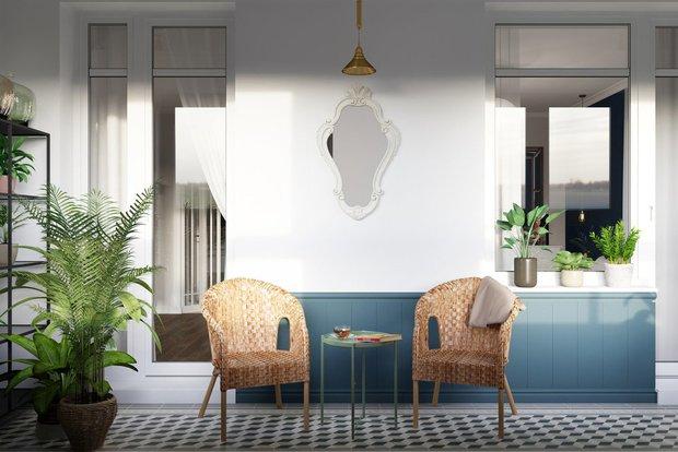 Фотография:  в стиле , Балкон, Советы, детская зона на лоджии, кабинет на лоджии, спальня на лоджии – фото на INMYROOM