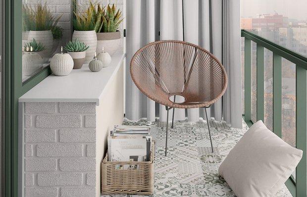 Фотография: Балкон в стиле Скандинавский, Современный, Гид, как оформить балкон – фото на INMYROOM