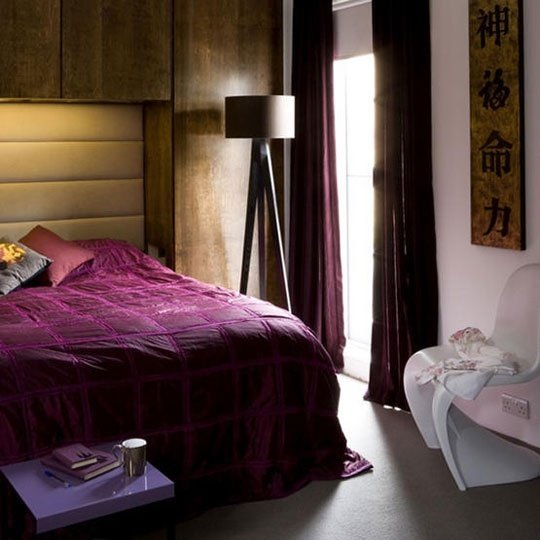 Фотография: Спальня в стиле Восточный, Эко, Интерьер комнат, Кровать, Гардероб, Комод, Пуф, Табурет – фото на INMYROOM