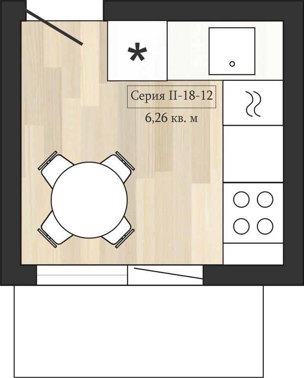 Фотография: Кухня и столовая в стиле Прованс и Кантри, Перепланировка, Анастасия Киселева, Максим Джураев, II-57, II-18-12 – фото на INMYROOM