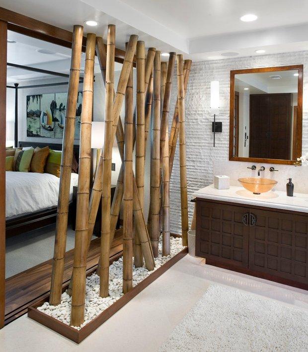 Фотография: Ванная в стиле Восточный, Советы, как зонировать студию, Марина Лаптева – фото на INMYROOM