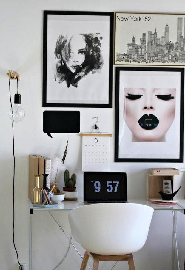 Фотография: Офис в стиле Лофт, Скандинавский, Кабинет, Интерьер комнат – фото на INMYROOM