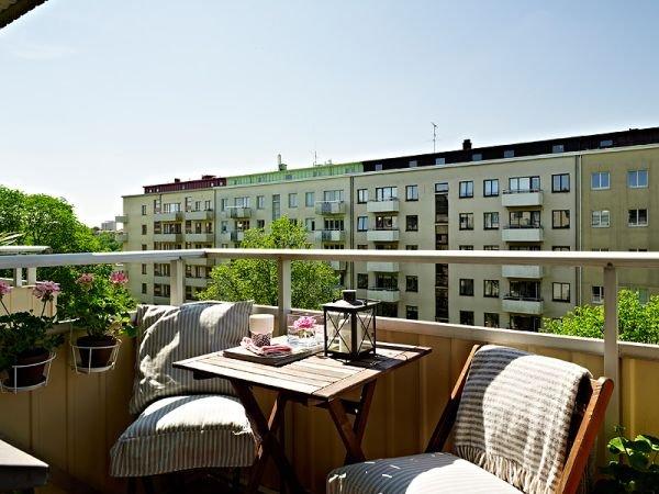 Фотография: Балкон, Терраса в стиле Прованс и Кантри, Скандинавский, Малогабаритная квартира, Квартира, Дома и квартиры, Минимализм – фото на InMyRoom.ru