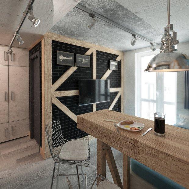 Фотография: Кухня и столовая в стиле Лофт, Гид, напольное покрытие, ламинат – фото на INMYROOM