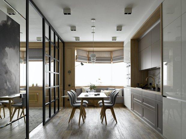 Фотография: Кухня и столовая в стиле Современный, Спальня, Декор интерьера, Студия, Антонина Синчугова – фото на INMYROOM