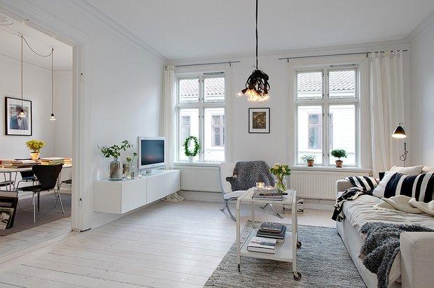 Фотография: Гостиная в стиле Скандинавский, Квартира, Стиль жизни, Советы – фото на INMYROOM