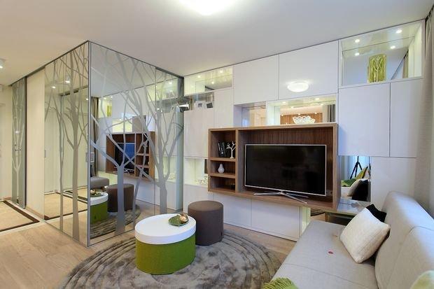 Фотография: Мебель и свет в стиле Современный, Эклектика, Декор интерьера, Малогабаритная квартира, Квартира, Студия, Планировки – фото на INMYROOM