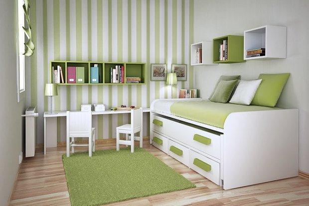 Фотография: Детская в стиле Современный, Спальня, Интерьер комнат, Хрущевка – фото на InMyRoom.ru