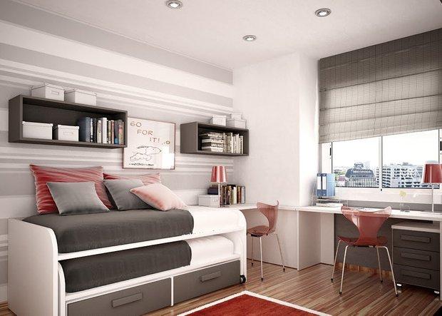 Фотография: Детская в стиле Современный, Спальня, Интерьер комнат, Хрущевка – фото на INMYROOM
