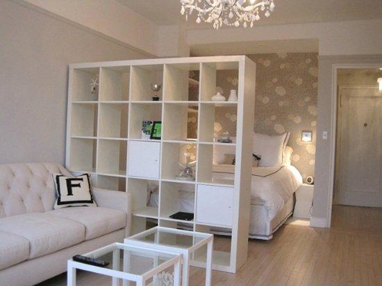 Фотография:  в стиле , Гостиная, Спальня, Малогабаритная квартира, Советы, Hoff, зонирование комнаты – фото на INMYROOM