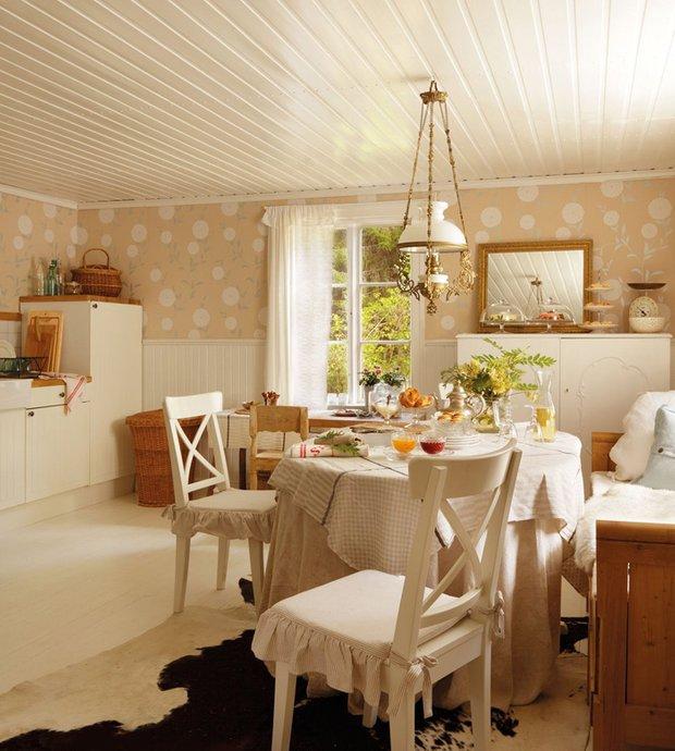 Фотография: Кухня и столовая в стиле Прованс и Кантри, Дом, Дома и квартиры, IKEA, Проект недели, Дача – фото на InMyRoom.ru