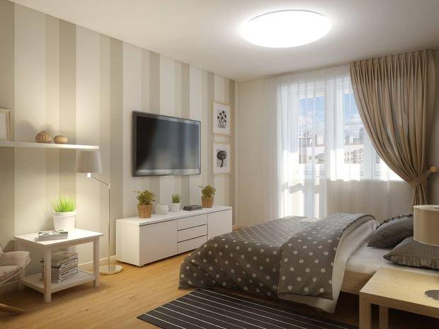 Фотография: Спальня в стиле Классический, Современный, Декор интерьера, Малогабаритная квартира, Квартира, Студия, Планировки, Мебель и свет – фото на INMYROOM