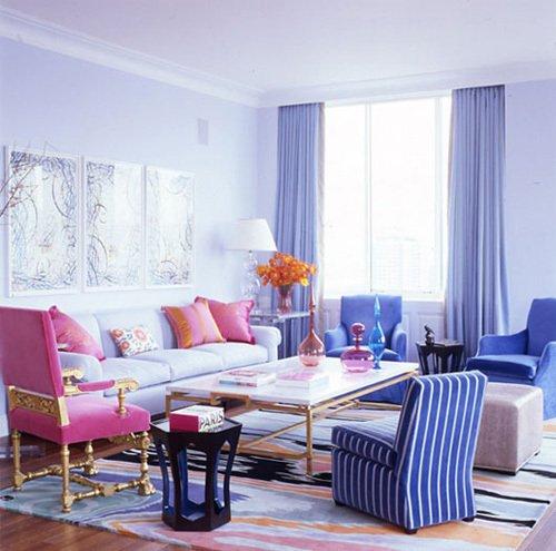 Фотография: Спальня в стиле Скандинавский, Декор интерьера, Дизайн интерьера, Мебель и свет, Цвет в интерьере, Стены, Розовый, Фуксия – фото на InMyRoom.ru