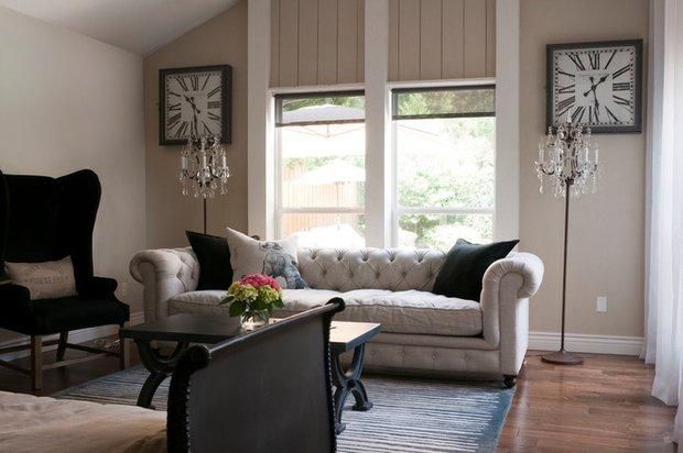 Фотография: Гостиная в стиле Прованс и Кантри, DIY, Дом, Цвет в интерьере, Дома и квартиры, Белый – фото на INMYROOM