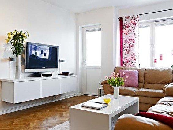 Фотография: Гостиная в стиле Современный, Малогабаритная квартира, Квартира, Швеция, Дома и квартиры – фото на INMYROOM