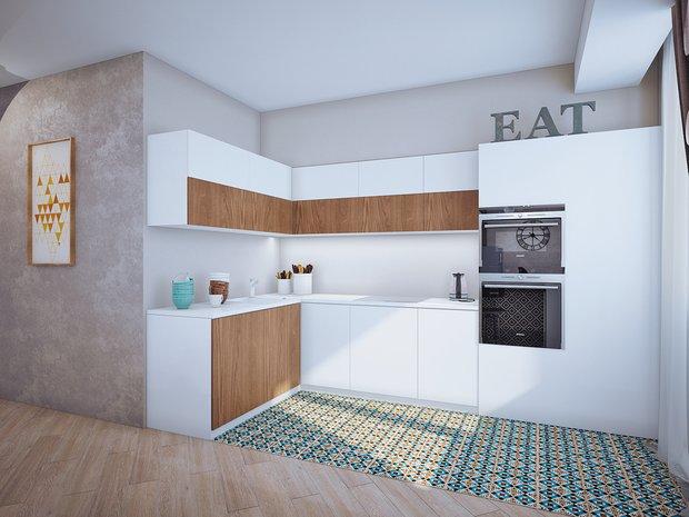 Фотография: Кухня и столовая в стиле Современный, Классический, Квартира, Планировки, Мебель и свет, Проект недели – фото на INMYROOM
