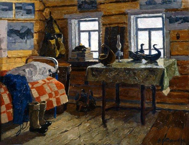 Стожаров Владимир Федорович «Село Муфтюга. Наша комната.»
