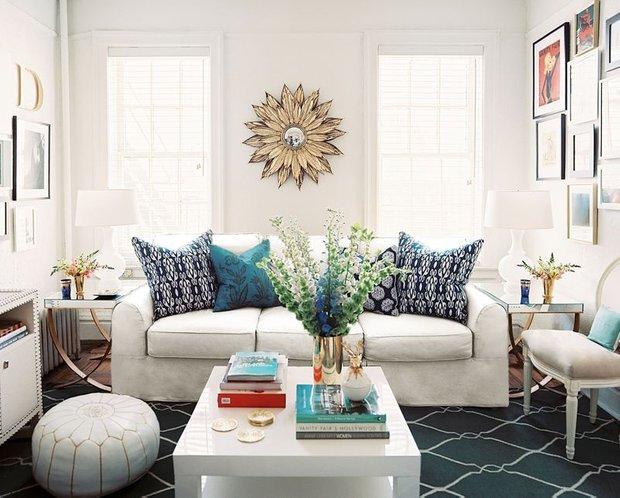 Фотография: Гостиная в стиле , Декор интерьера, Мебель и свет – фото на INMYROOM