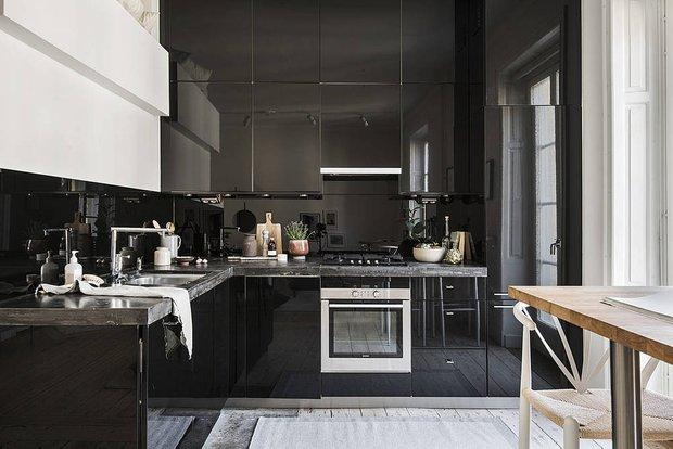 Фотография: Кухня и столовая в стиле Скандинавский, Современный, Декор интерьера, Квартира, Студия, Белый, Минимализм, Черный, до 40 метров – фото на INMYROOM