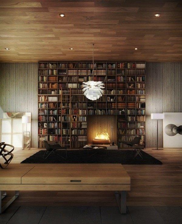 Фотография: Гостиная в стиле Лофт, Хранение, Стиль жизни, Советы, Библиотека – фото на INMYROOM
