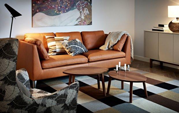 Фотография: Гостиная в стиле Современный, Текстиль, Индустрия, Новости, IKEA, Ткани, Мягкая мебель, Светильники, Ваза, Стокгольм – фото на INMYROOM