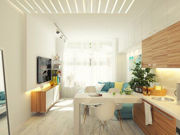 Фотография: Кухня и столовая в стиле Скандинавский, Современный, Малогабаритная квартира, Советы – фото на INMYROOM