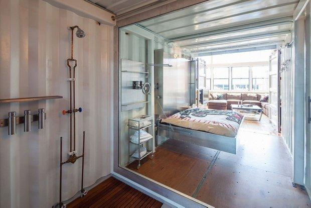 Фотография: Ванная в стиле Современный, Лофт, Квартира, Дома и квартиры, Проект недели, Футуризм, Потолок – фото на INMYROOM