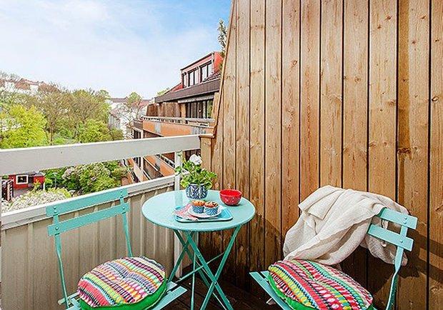 Фотография: Балкон, Терраса в стиле Лофт, Скандинавский, Малогабаритная квартира, Квартира, Дома и квартиры – фото на INMYROOM