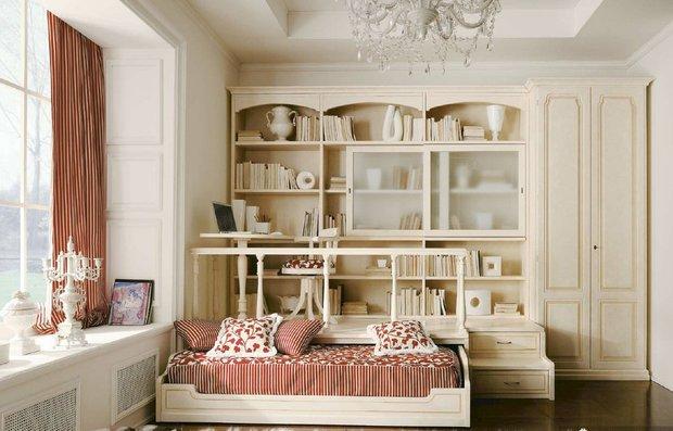 Фотография: Спальня в стиле Прованс и Кантри, Классический, Современный, Детская, Декор интерьера, Мебель и свет, Кровать, Подиум – фото на INMYROOM