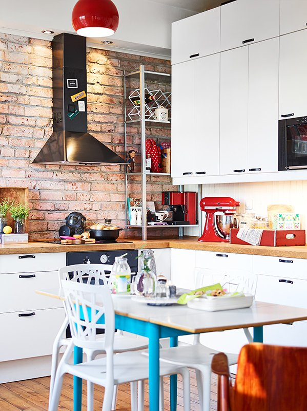 Фотография: Кухня и столовая в стиле Скандинавский, Малогабаритная квартира, Квартира, Дома и квартиры – фото на INMYROOM