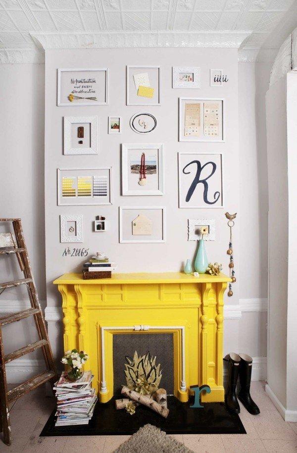 Фотография: Декор в стиле Эклектика, Декор интерьера, Цвет в интерьере, Текстиль, Картины, Желтый – фото на INMYROOM