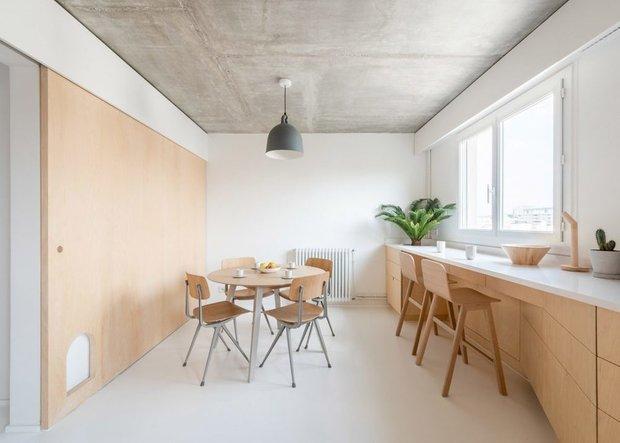 Фотография: Кухня и столовая в стиле Минимализм, Современный, Декор интерьера, Квартира, Франция, Париж, 4 и больше, Более 90 метров – фото на INMYROOM