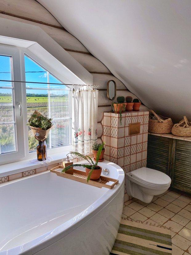 Фотография:  в стиле , Ремонт на практике, Более 90 метров, построить дом, как сэкономить на строительстве дома, ванная комната в скандинавском стиле – фото на INMYROOM