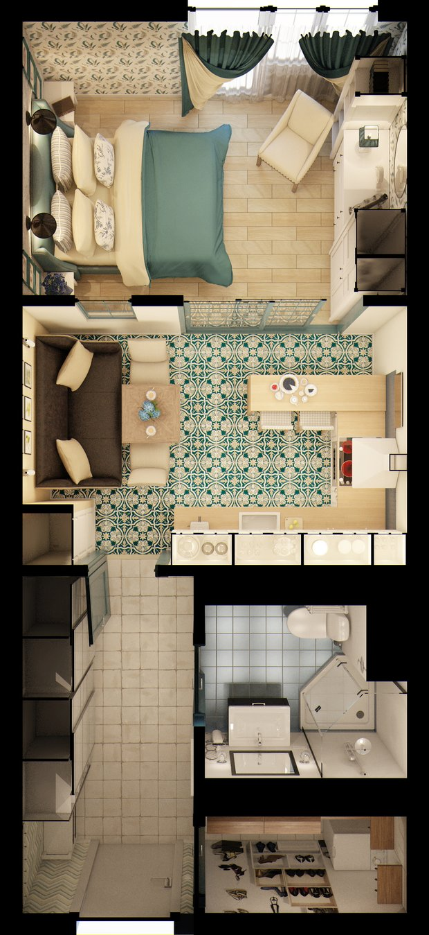 Фотография: Планировки, Прочее в стиле , Квартира, Gramercy Home, Дома и квартиры, IKEA, Проект недели – фото на INMYROOM