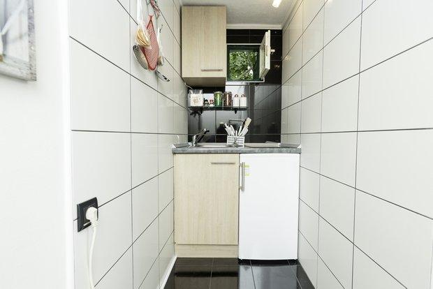 Фотография:  в стиле , маленькая кухня, интерьер кухни, кухня – фото на INMYROOM