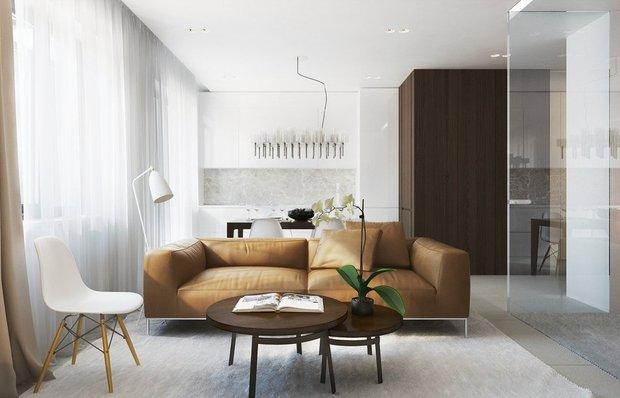 Фотография: Гостиная в стиле Современный, Малогабаритная квартира, Дома и квартиры – фото на INMYROOM
