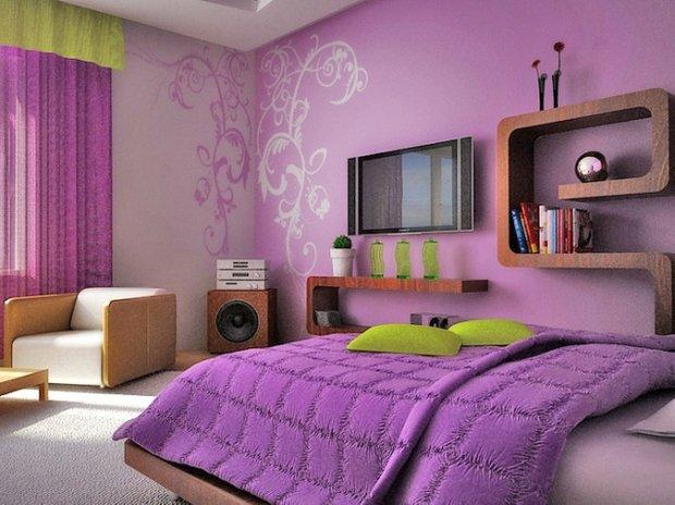 Фотография: Спальня в стиле Современный, Хай-тек, Обои, Переделка, Плитка, Краска, Стеновые панели – фото на INMYROOM