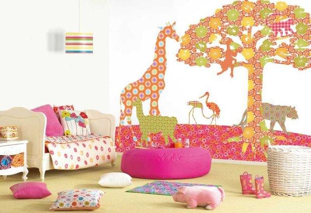 Фотография: Детская в стиле Современный, Декор интерьера, DIY, Обои – фото на INMYROOM