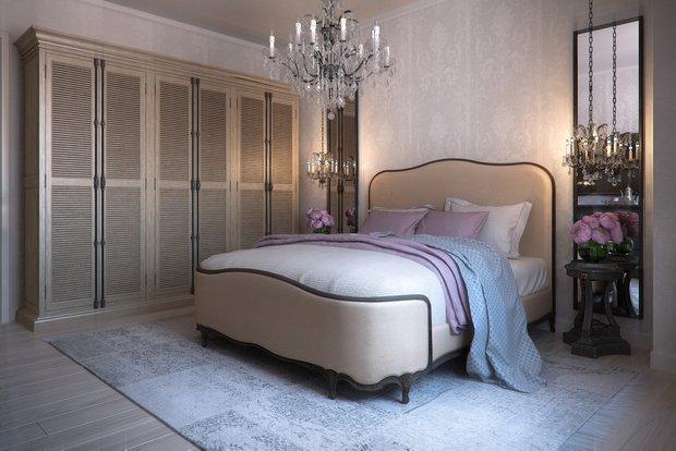 Фотография: Спальня в стиле Классический, Квартира, Проект недели, Москва, Виктория Киорсак, Монолитный дом, 3 комнаты, 60-90 метров, ЖК «Богородский» – фото на INMYROOM