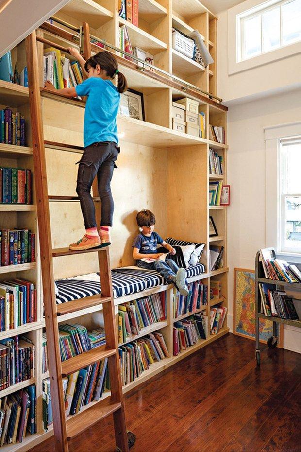 Фотография: Детская в стиле Современный, Системы хранения, Библиотека, Домашняя библиотека – фото на INMYROOM