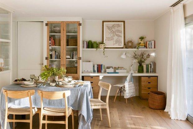 Фотография: Кухня и столовая в стиле Скандинавский, Декор интерьера, Квартира, Испания, Барселона, Зеленый, Синий, 3 комнаты, 60-90 метров, Летний интерьер, Марта Пратс – фото на INMYROOM