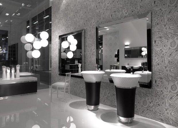 Фотография: Ванная в стиле Современный, Декор интерьера, Мебель и свет, Текстиль, Индустрия, События, Обои, Посуда, Ткани, Маркет, Плитка, Maison & Objet, Плед, Бытовая техника – фото на INMYROOM