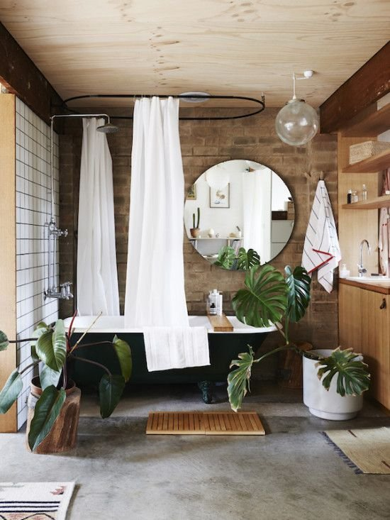 Фотография: Ванная в стиле Лофт, Малогабаритная квартира, Квартира, Флористика, Стиль жизни, Зимний сад – фото на INMYROOM