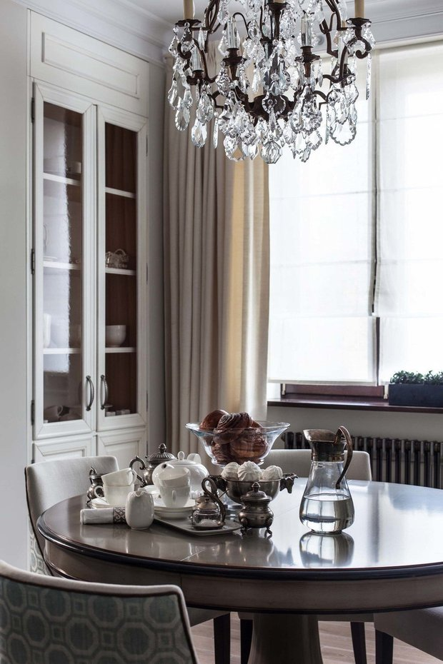 Фотография: Кухня и столовая в стиле Классический, Современный, Квартира, Проект недели, Москва, новостройка, Дарья Широкова, Инга Аршба – фото на INMYROOM
